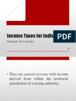 Income Taxation for Individuals