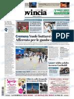 La Provincia Di Cremona 07-10-2018 - Prima Pagina