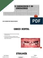 Dieta Cariogenica y No Cariogenica