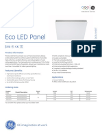 LED Eco Panel DataSheet En