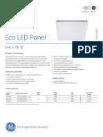 LED Eco Panel DataSheet En