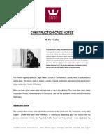 Article Construction Case Notes