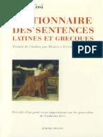 Dictionnaire Des Sentences Latines Et Grecques