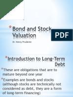 bond stock valuation
