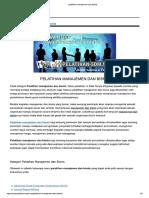 Pelatihan manajemen dan bisnis