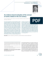 An Evidence-based Evaluation of the Concept of Centric Relation in the 21st Century