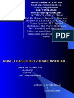 MOSFET BASED INVERTER - PROJECT