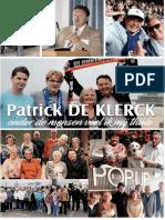 Verkiezingsfolder ex-burgemeester Patrick De Vlerck (Open VLD)