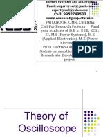 Theory of oscilloscope