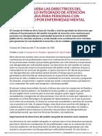 Tema 12. Modelo Integrado de Atención Socio-sanitaria Para Personas Con Discapacidad Por Enfermedad Mental
