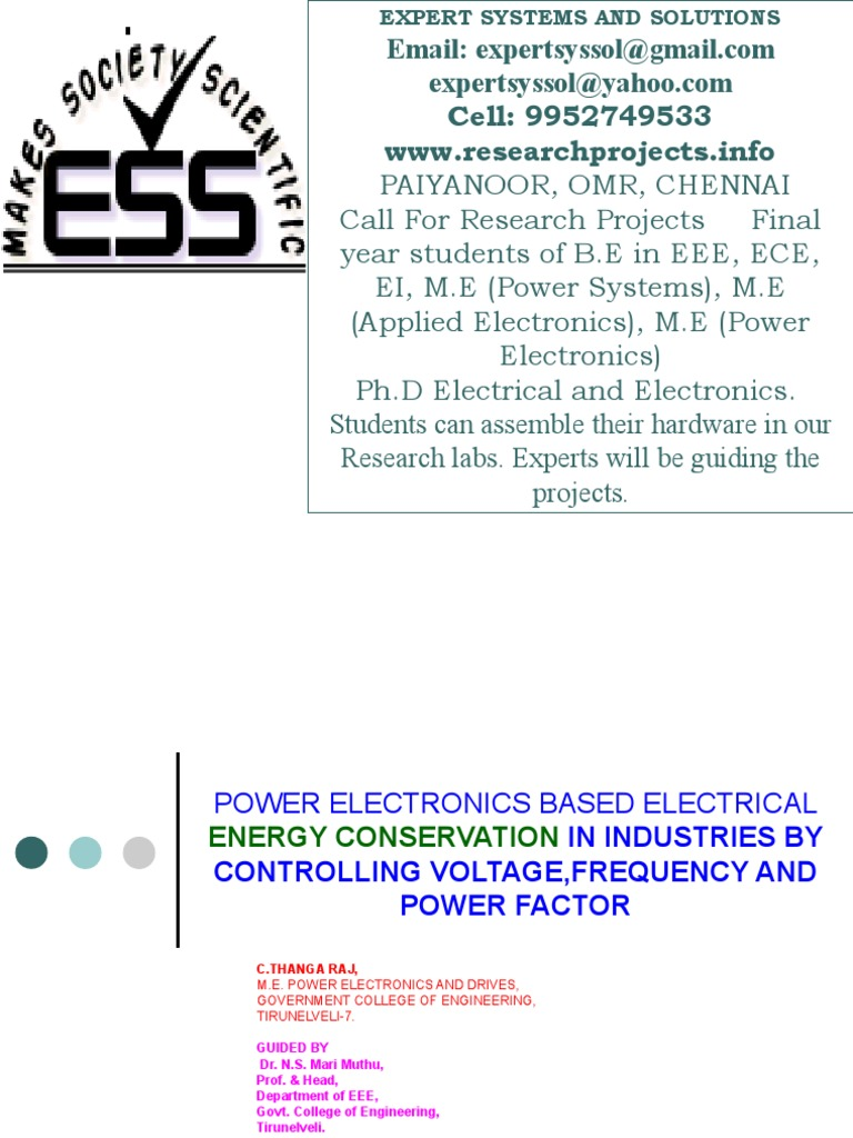 power systems project areas | Power Electronics | Electric