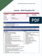 04001240 Engineering Assistant Multi Disc UG (B2)