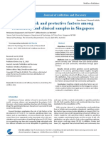 Gambling Risk and Protective Factors Among Community and Clinical Samples in Singapore