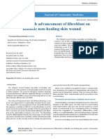 The research advancement of fibroblast on diabetic non-healing skin wound