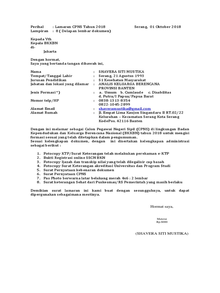 16++ Contoh surat pernyataan format bkkbn terbaru yang baik