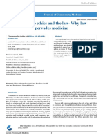 Healthcare ethics and the law- Why law pervades medicine