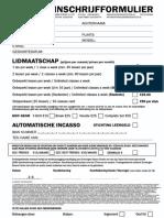 Inschrijf Formulier 2018 (1x Maand)