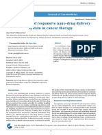 Application of responsive nano-drug delivery system in cancer therapy