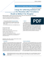 A successful strategy for achieving minimal cold ischemia time for Donation after Circulatory Death in Belfast City Hospital