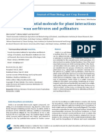 Indole is an Essential Molecule for Plant Interactions With Herbivores and Pollinators