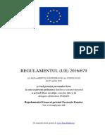 Text Original Cu Cuprins - Regulament European 679 Din 2016 - GDPR