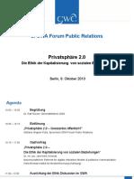 GWA Forum Public Relations  – Die Ethik der Kapitalisierung von sozialen Beziehungen