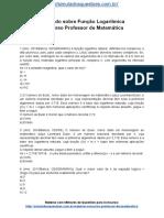 Simulado Sobre Função Logarítmica Concurso Professor de Matemática