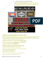 Prediksi Cambodia Selasa 9 Oktober 2018 _ TIDURDIKUBURAN