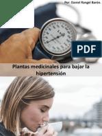 PLANTAS MEDICINALES PARA BAJAR LA HIPERTENSIÓN