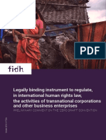"Preliminary comment on the ""Zero Draft"" treaty on Transnational Corporations and Other Business Enterprises and Human Rights"