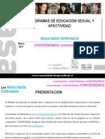 Educación Sexual en Chile. Programas de Educación Sexual. Resultados 03.2011