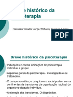Breve Histórico do Psicoterapia