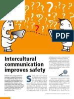 Intercultural communication improves safety