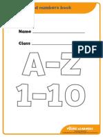 A Z Alphabet Book and 1 10