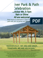 Mad River Path and Park Celebration flyer