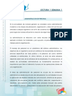 Lectura - Introduccion a La Administracion Del Personal