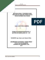 Normas de Hidrología en Bolivia_alzu Sola Gabriel