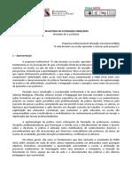 i Relatório de Atividades Pibid-2009