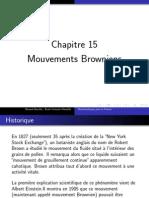 Chap 15 - Mouvements Browniens
