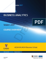 MBAX9135 Business Analytics S12017