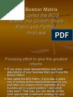 The Boston Matrix PPT