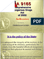 RA 9165 (Comprehensive Dangerous Drugs Act) Overview.pdf
