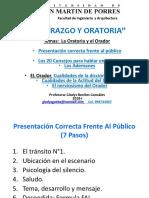 1) La Oratoria y El Orador Agosto 2017-II