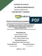 informe de practica pre profesional de contabilidad en la municipalidad distrital de amarilis huanuco