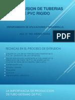 La Extrusion de Tuberias de Pvc Rigido