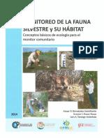 1.- Monitoreo de La Fauna Silvestre y Su Hábitat