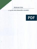 Nicolae Cusa - Originea macedonenilor aromâni