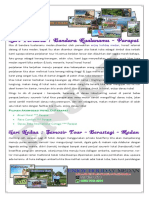 3H2M Paket Tour Medan-Berastagi-Parapat (Paket Wisata Danau Toba 3 Hari 2 Malam)