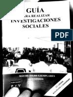 Hipotesis, Guia Para Realizar Una Investigacion Social