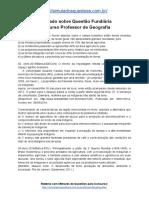 Simulado Sobre Questão Fundiária Concurso Professor de Geografia